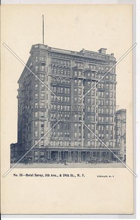 Hotel Savoy, 5th Ave., & 59th St., N.Y.