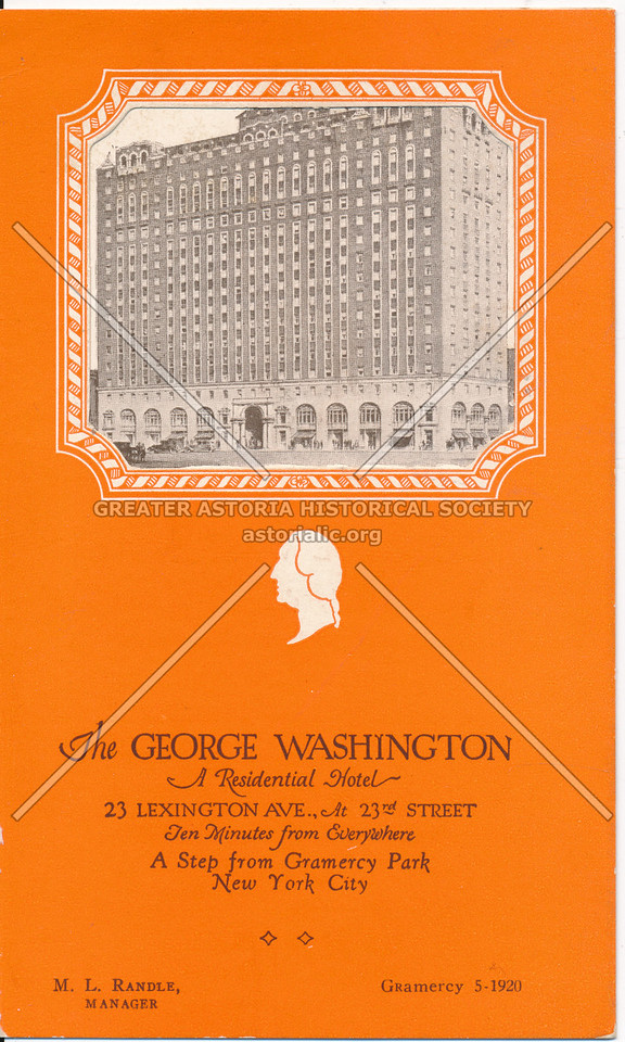 The George Washington, 23 Lexington Ave At 23rd St, NYC