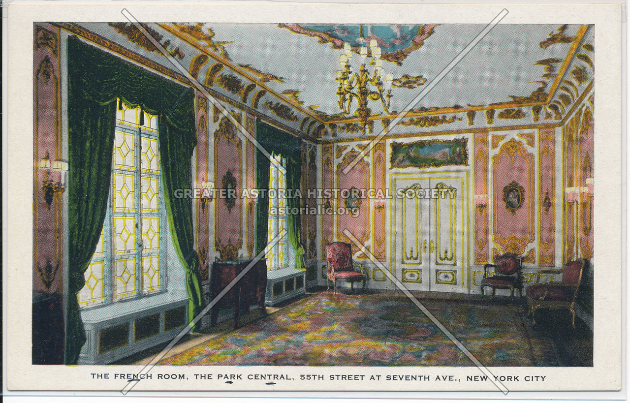The French Room, The Park Central, 55th Street At Seventh Ave., New York City