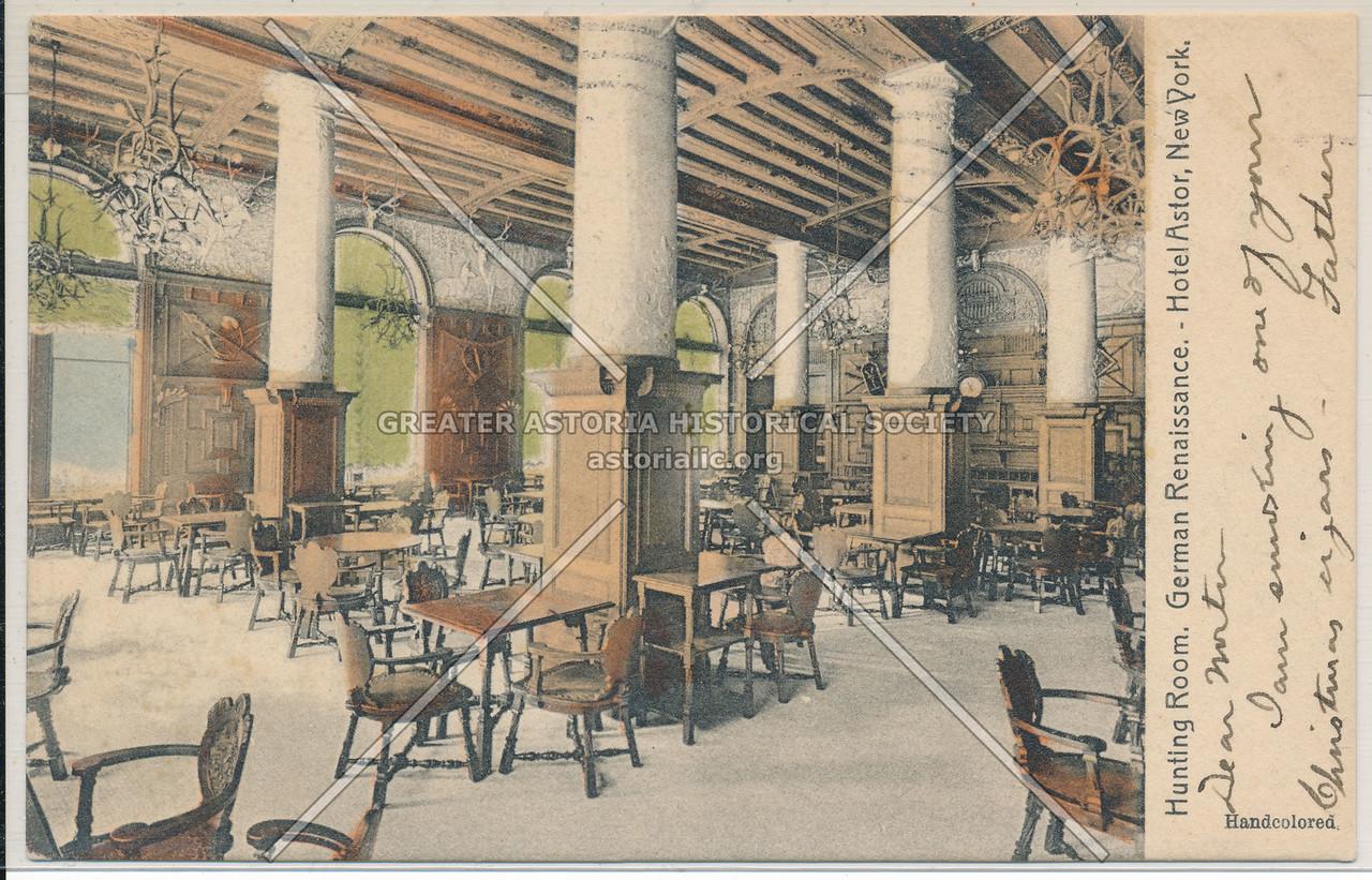 Hunting Room, German Renaissance, Hotel Astor, NYC
