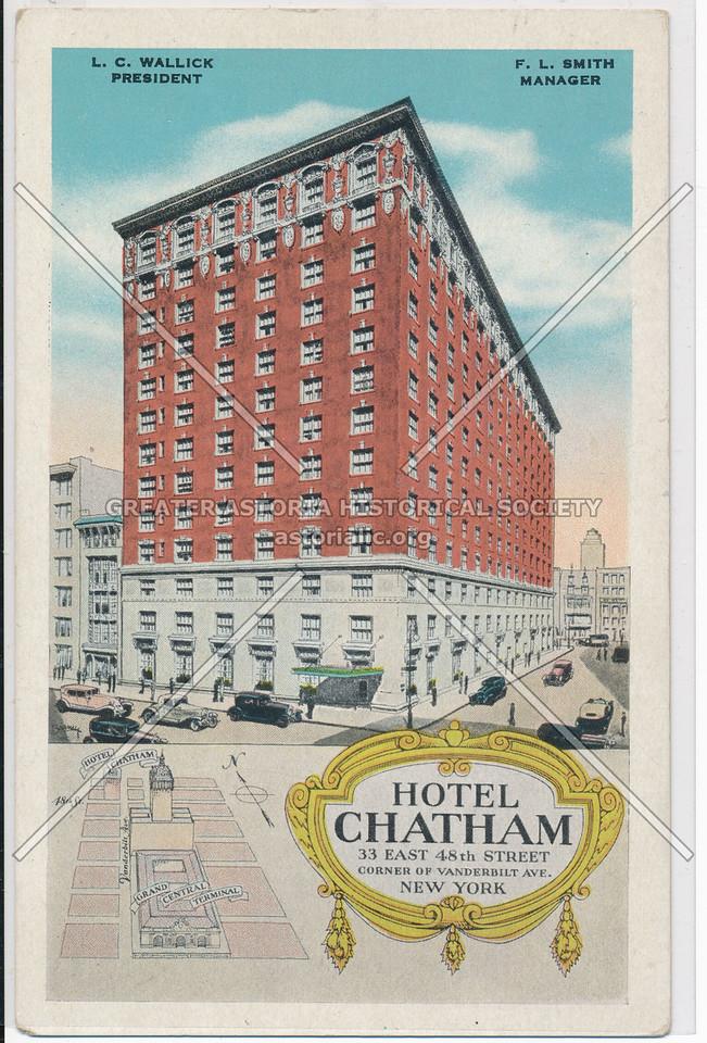 Hotel Chatham, 33 East 48th Street, Corner of Vanderbilt Ave., NYC