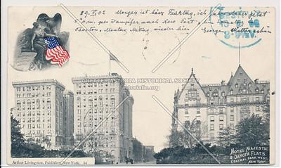 Hotel Majestic & Dakota Flats, Central Park West, New York