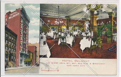 Hotel Belmont, 116 W 45th St, Bet. 6th Ave. & Broadway, NYC