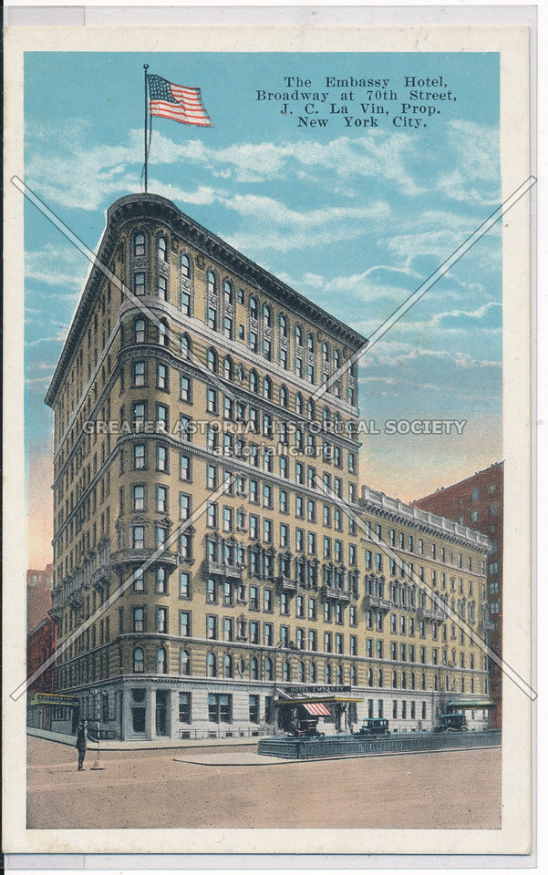 The Embassy Hotel, Broadway at 70th Street, New York City