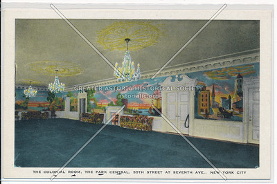 The Colonial Room, The Park Central, 55th Street At Seventh Ave., New York City