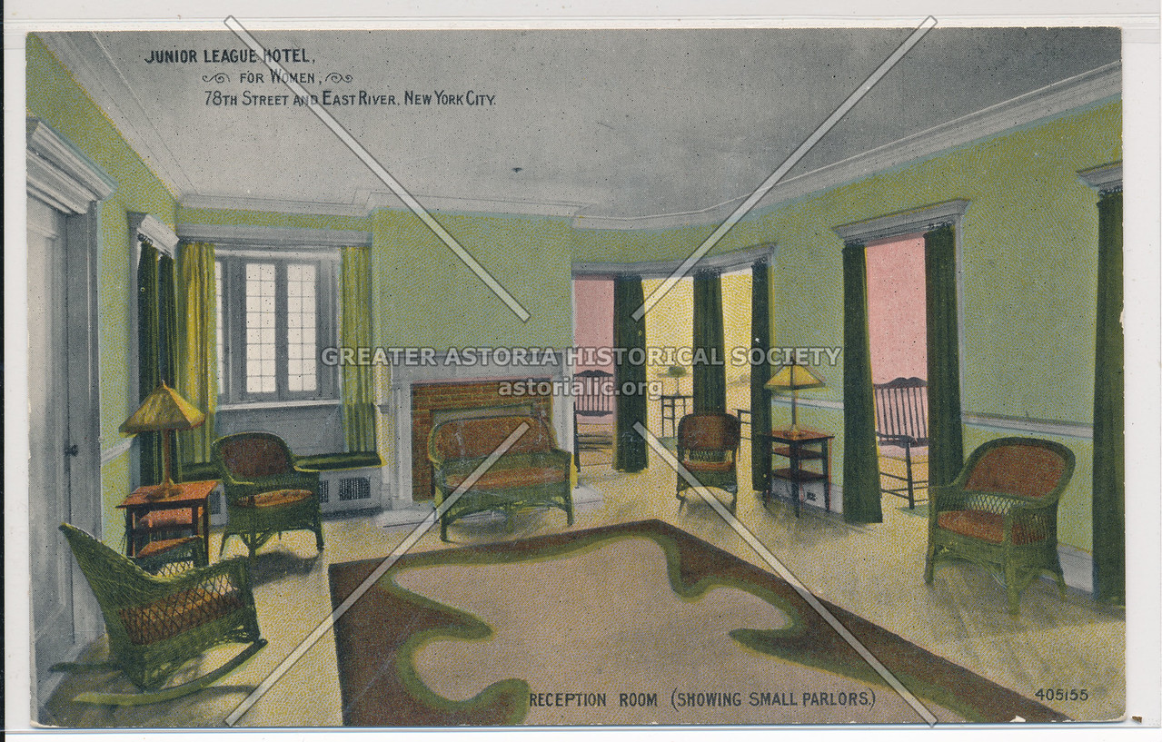 Junior League Hotel for Women, 78th Street and East River, New York City, Reception Room (Showing Small Parlors)