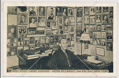 West Point Cadet Lounge at Hotel Piccadilly, West 45th St., New York City