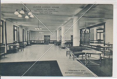 Junior League House Hotel for Women, 78th Street and East River, New York City. Assembly And Entertainment Hall