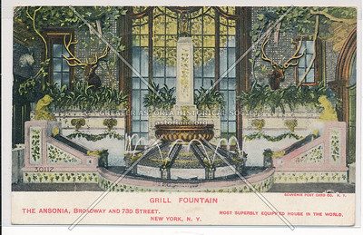 Grill Fountain, The Ansonia, Broadway And 73rd Street, New York, N.Y.