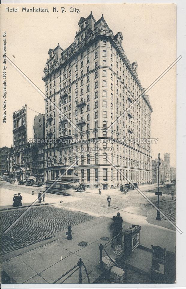 Hotel Manhattan, N.Y. City
