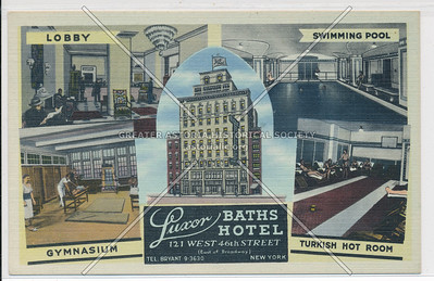 Luxor Baths Hotel, 121 West 46th Street, New York City