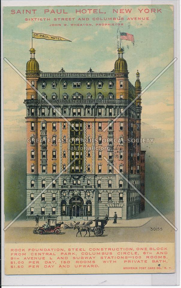 Saint Paul Hotel, New York, Sixtieth Street And Columbus Avenue