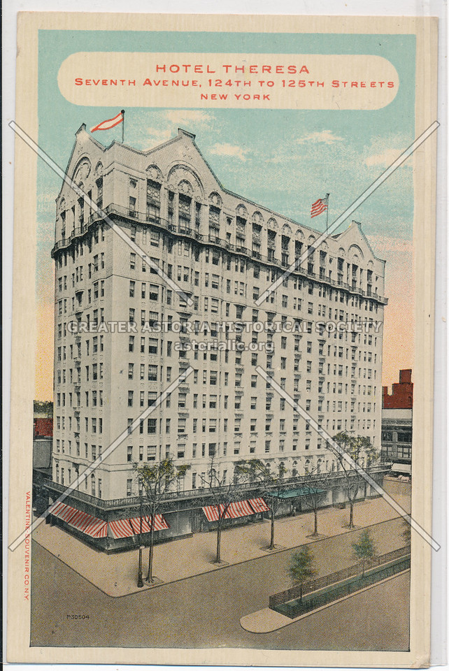 Hotel Theresa, Seventh Avenue, 124th To 125th Streets, New York