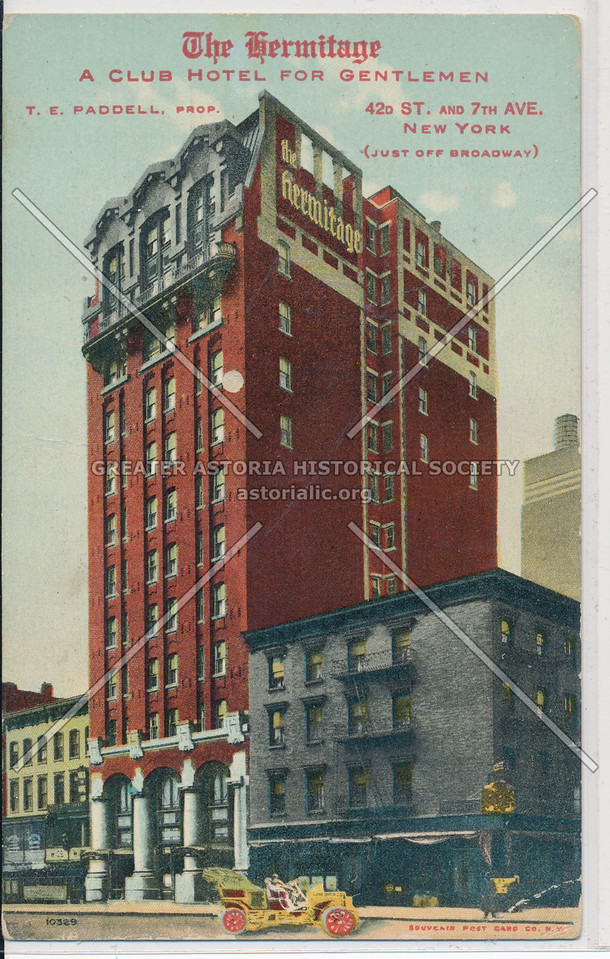 The Hermitage, A Club Hotel For Gentlemen, 42 St & 7 Ave, NYC