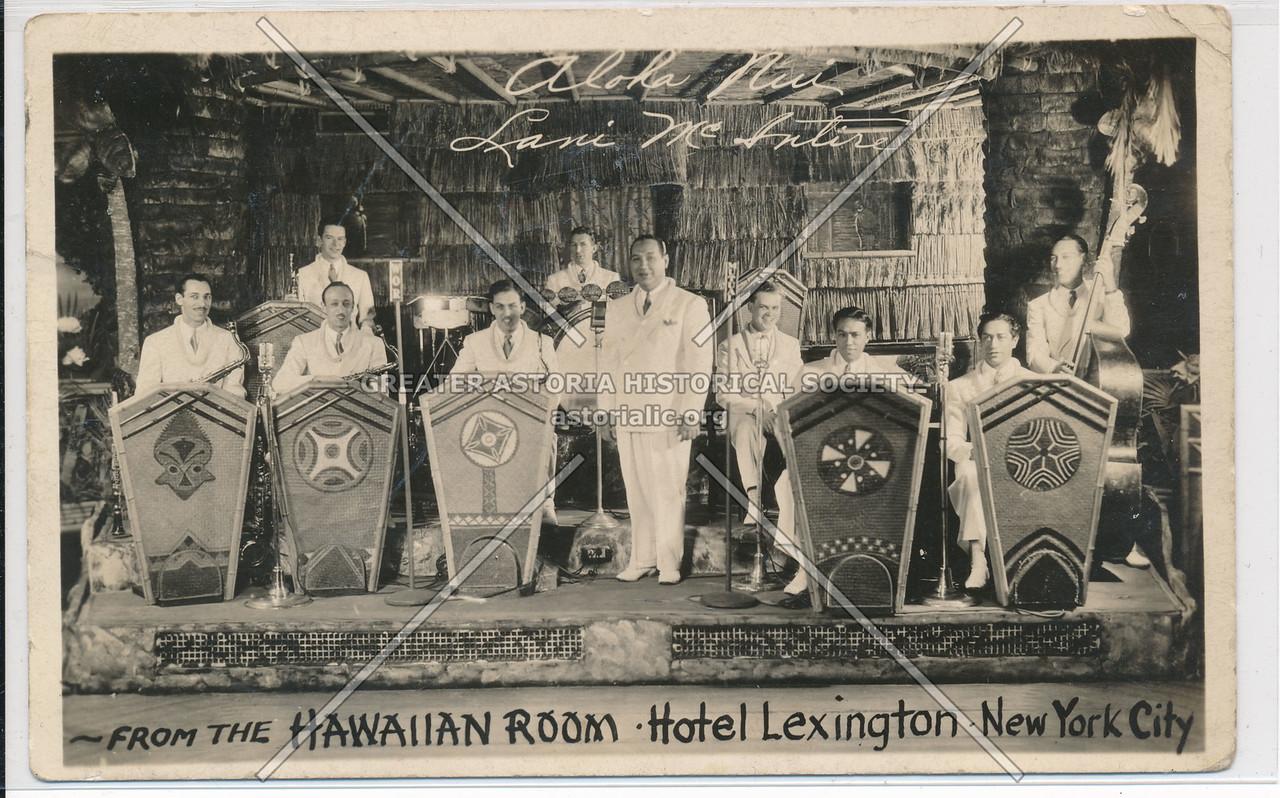 From the Hawaiian Room at Hotel Lexington, New York City