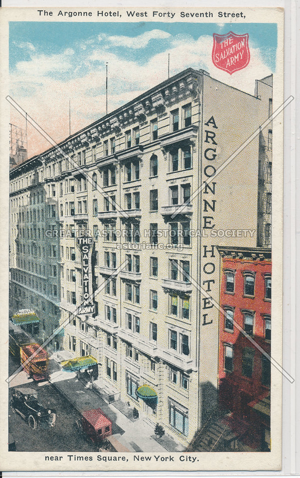 The Argonne Hotel, West Forty Seventh Street near Times Square, NYC