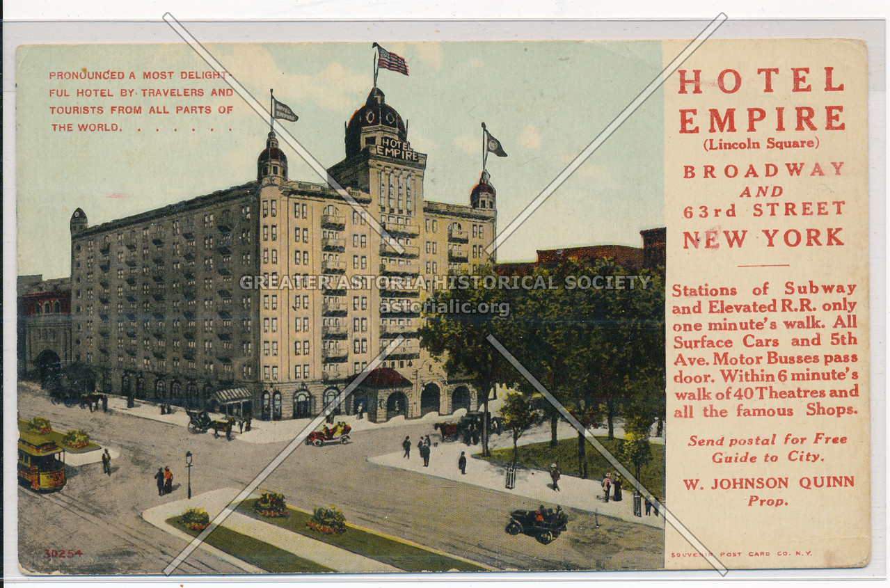 Hotel Empire (Lincoln Square), Broadway And 63rd Street, New York