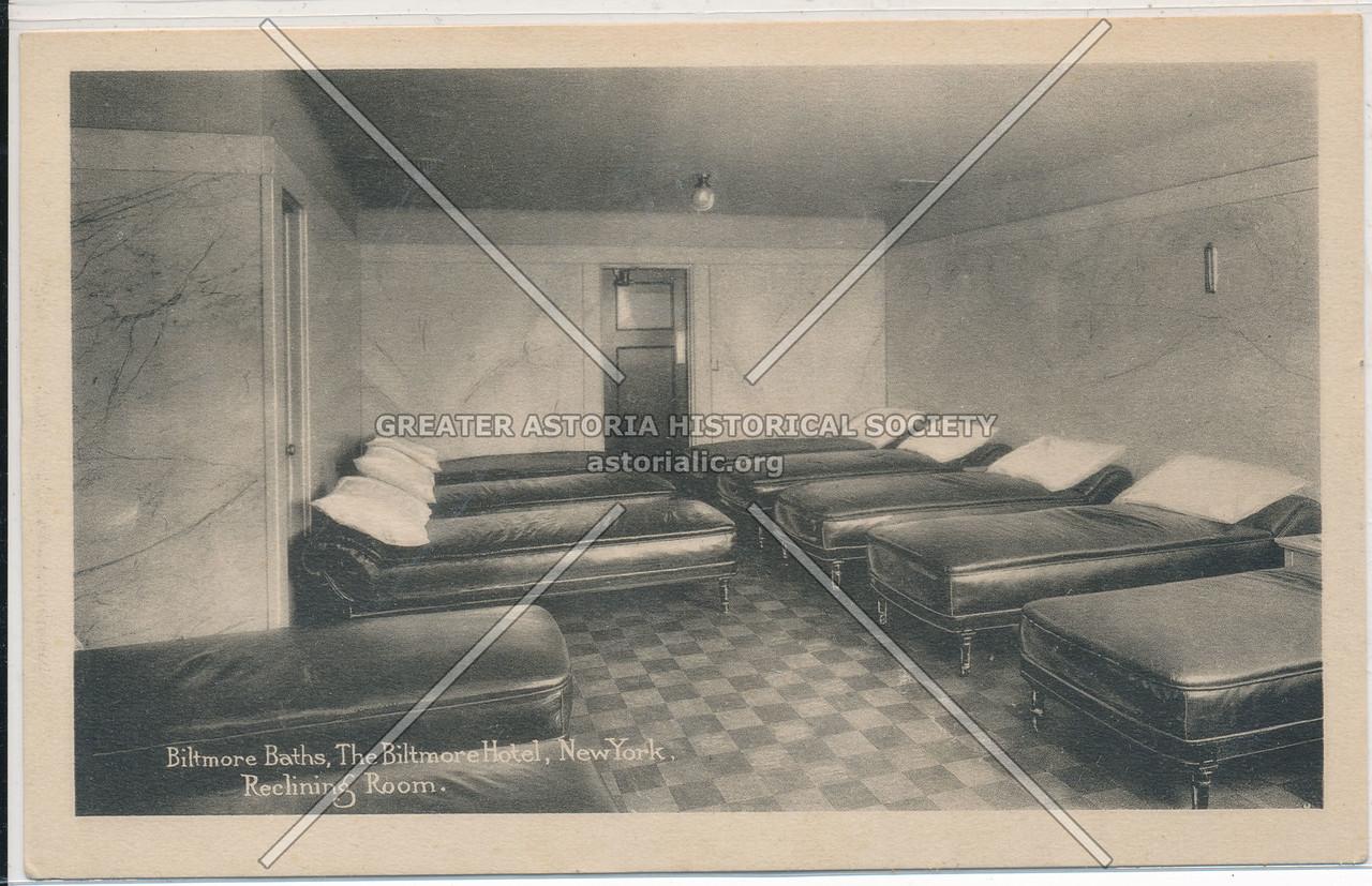 Biltmore Baths, The Biltmore Hotel, New York, Reclining Room