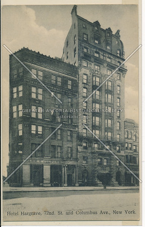 Hotel Hargrave, 72nd St. and Columbus Ave., New York