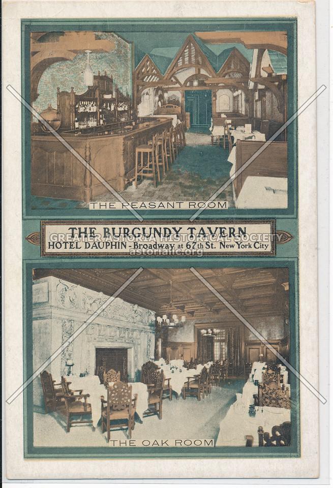 The Burgundy Tavern, Hotel Dauphin, Broadway at 67th St., New York City