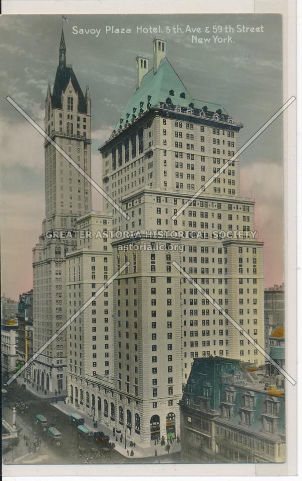 Savoy Plaza Hotel, 5th Ave. & 59th Street, New York
