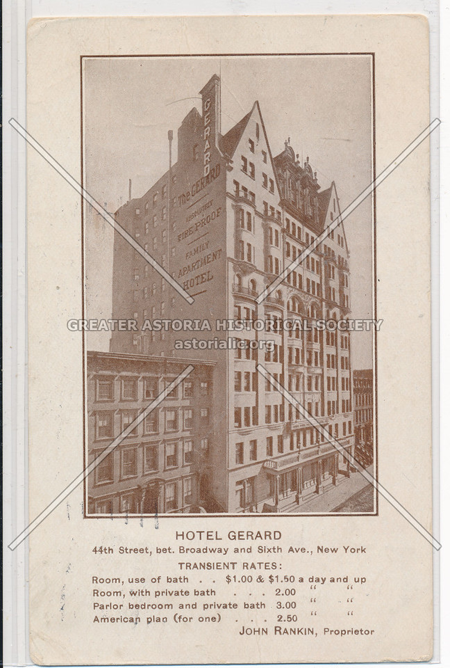 Hotel Gerard, 44th St, bet. Broadway and Sixth Ave., New York