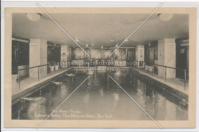 Side Water Plunge, Biltmore Baths, The Biltmore Hotel, New York City