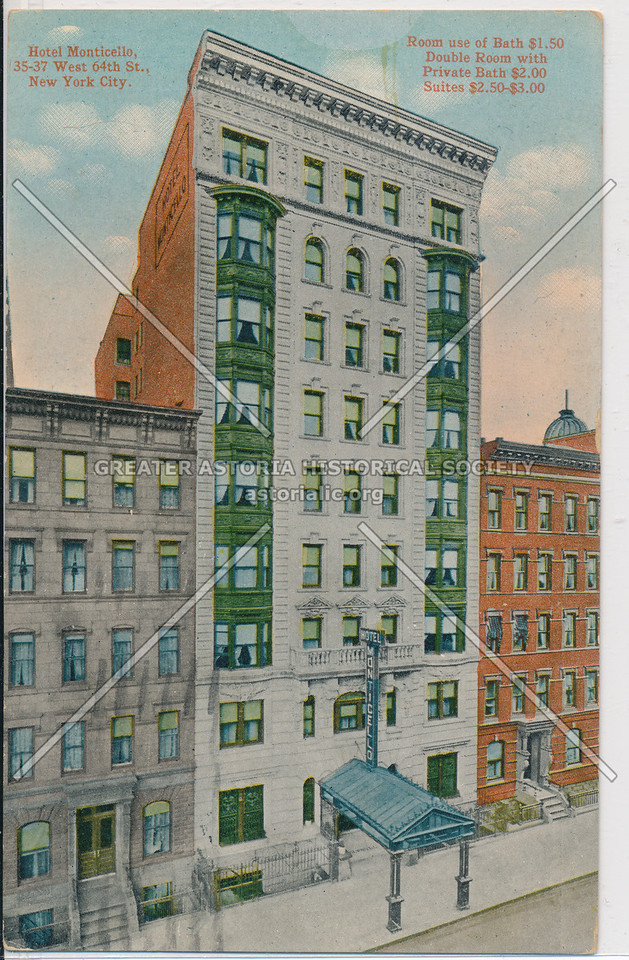 Hotel Monticello, 35-37 West 64th St., New York City