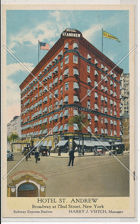 Hotel St. Andrew, Broadway at 72nd Street, New York