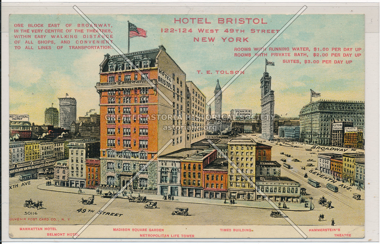 Hotel Bristol, 122-124 West 49th St., New York City