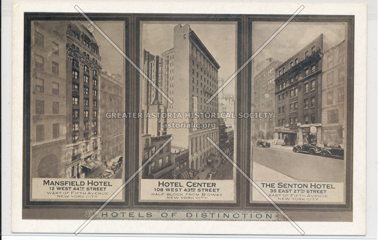 Hotels of Distinction: Mansfield Hotel, Hotel Center, The Senton Hotel