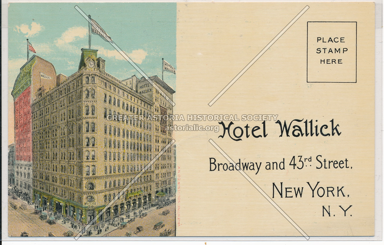 Hotel Wallick, Broadway and 43rd Street NYC