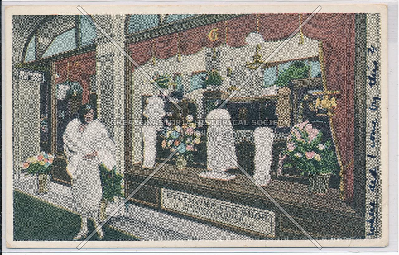 Biltmore Fur Shop, The Biltmore Hotel, New York City
