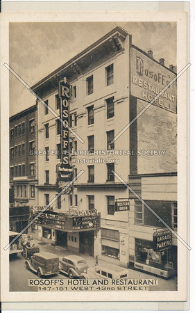 Rosoff's Hotel And Restaurant, 147 West 43rd St., NYC
