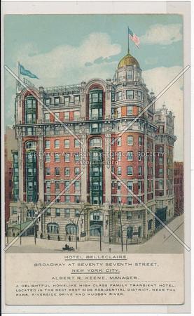 Hotel Belleclaire, Broadway At Seventy-Seventh Street, New York City