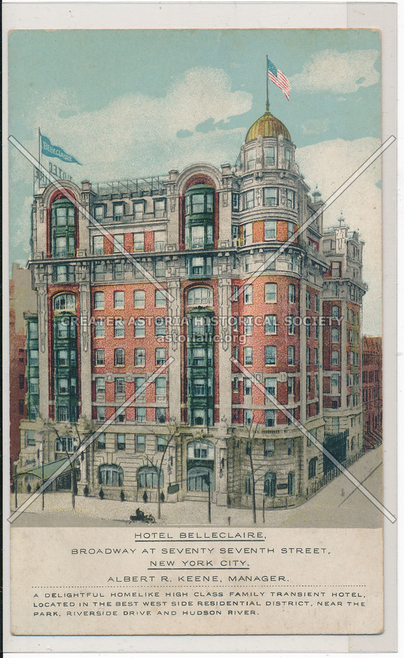 Hotel Belleclaire, Broadway At Seventy-Seventh Street, New York City