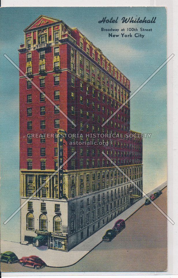 Hotel Whitehall, Broadway at 100th Street, New York City
