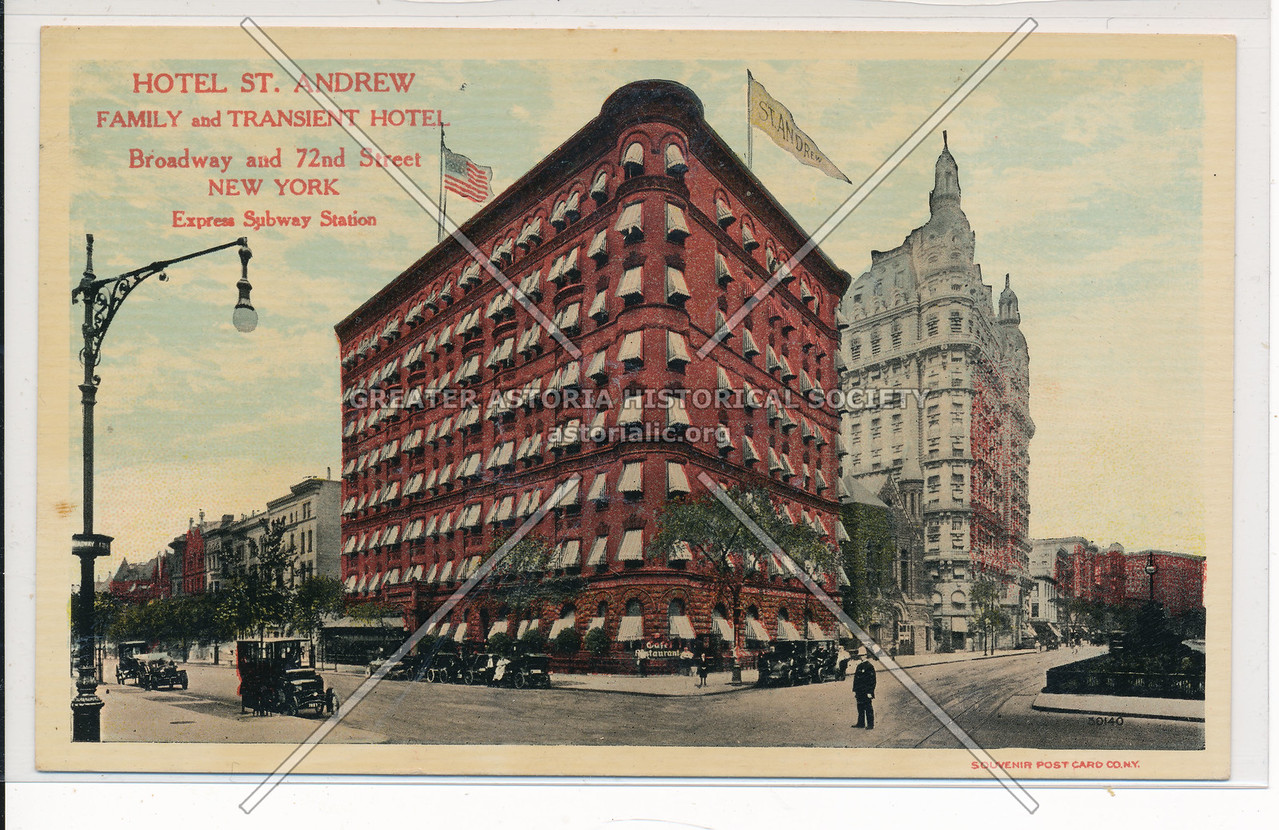 Hotel St. Andrew Family and Transient Hotel, Broadway and 72nd Street, New York