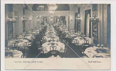 Hotel Astor, NYC, Small Ball Room