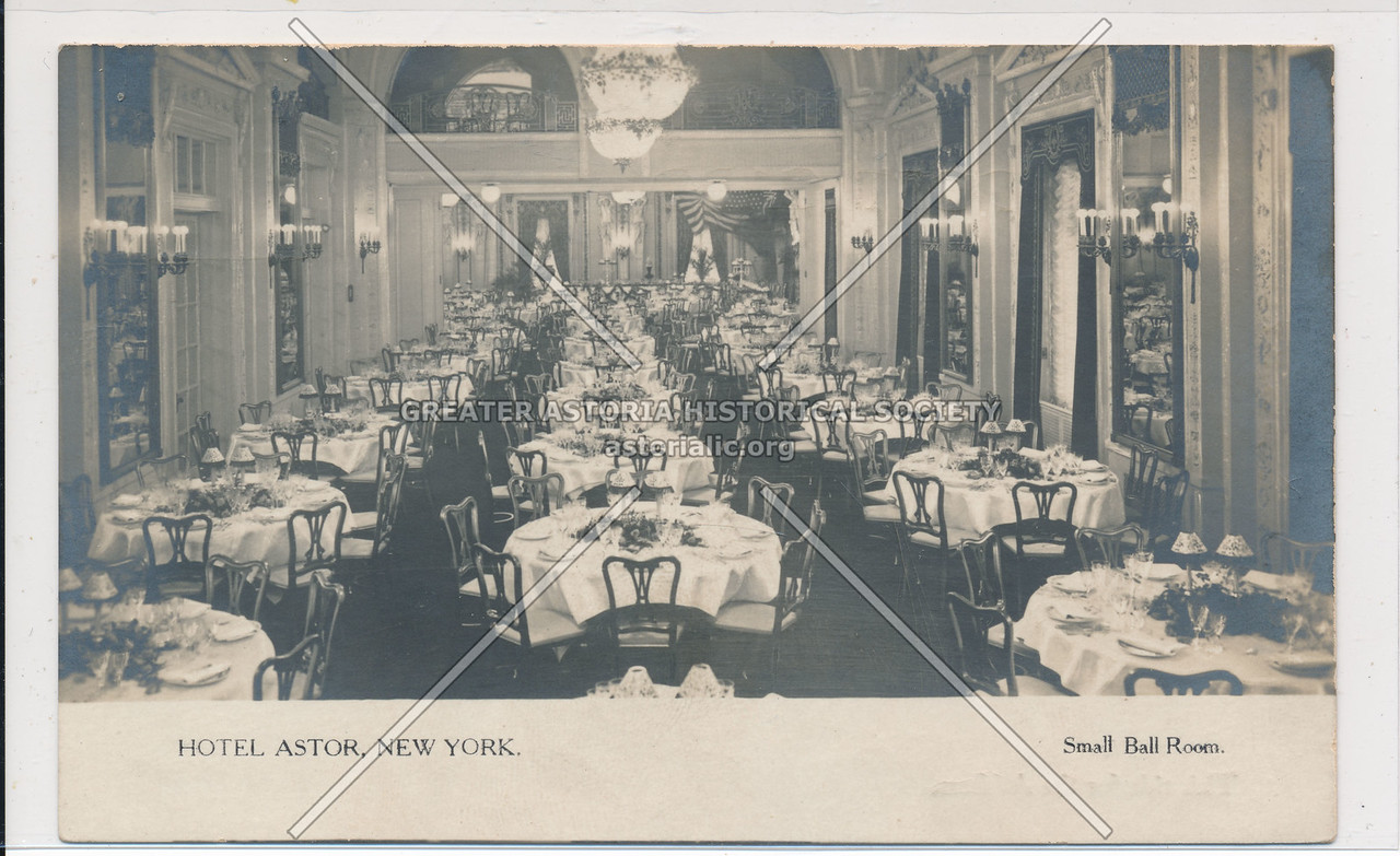 Hotel Astor, NYC, Small Ball Room