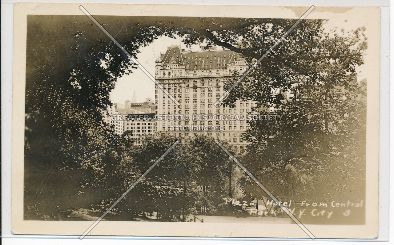 Plaza Hotel from Central Park, N.Y. City