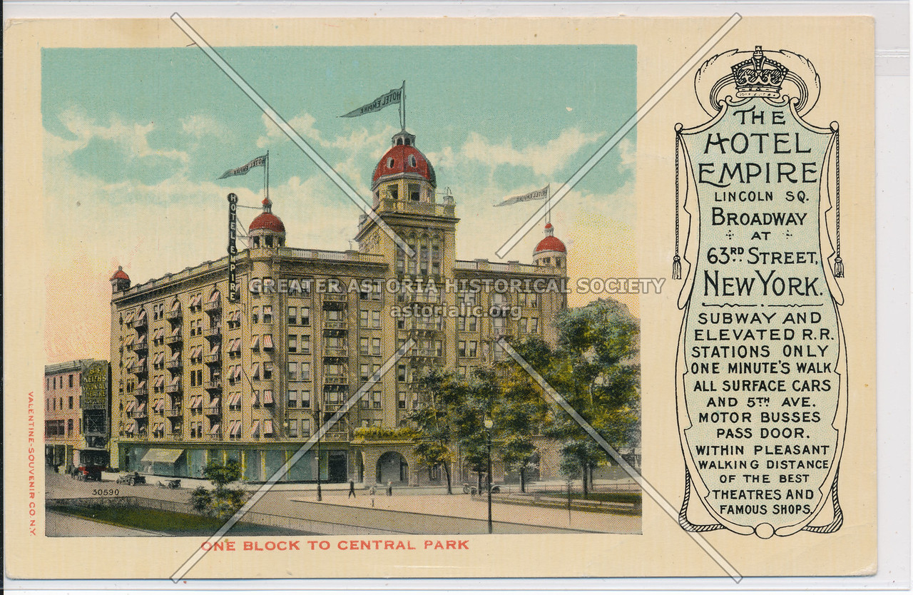 The Hotel Empire, Lincoln Sq. Broadway At 63rd Street, New York