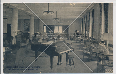 Lounge- Junior League Hotel For Women, 78th Street and East River, New York City