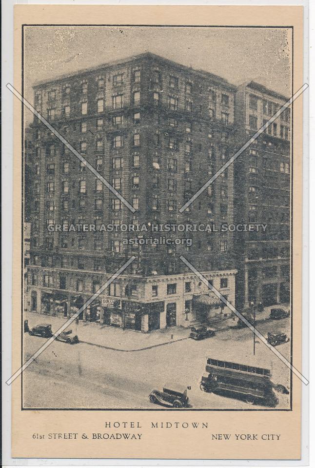 Hotel Midtown, 61st Street & Broadway, New York City