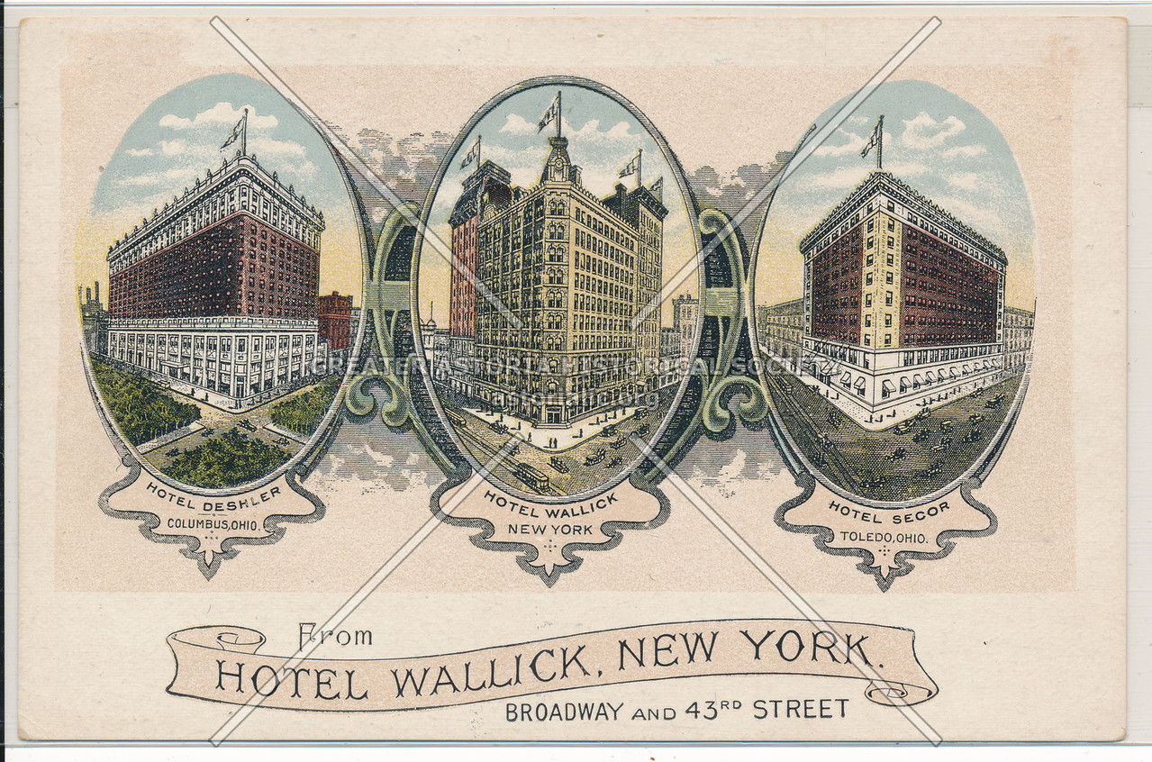 From Hotel Wallick, New York