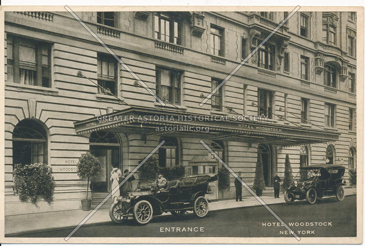 Entrance to Hotel Woodstock, New York City