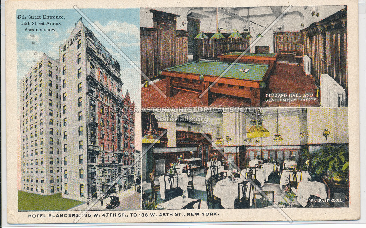Hotel Flanders, 135 W. 47th St. to 136 W. 48th St., New York City