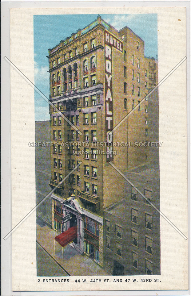 Hotel Royalton, 44 W. 44th St. And 47 W. 43rd St., NYC