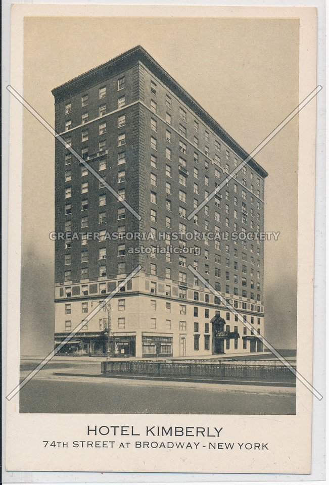 Hotel Kimberly, 74th Street At Broadway, New York