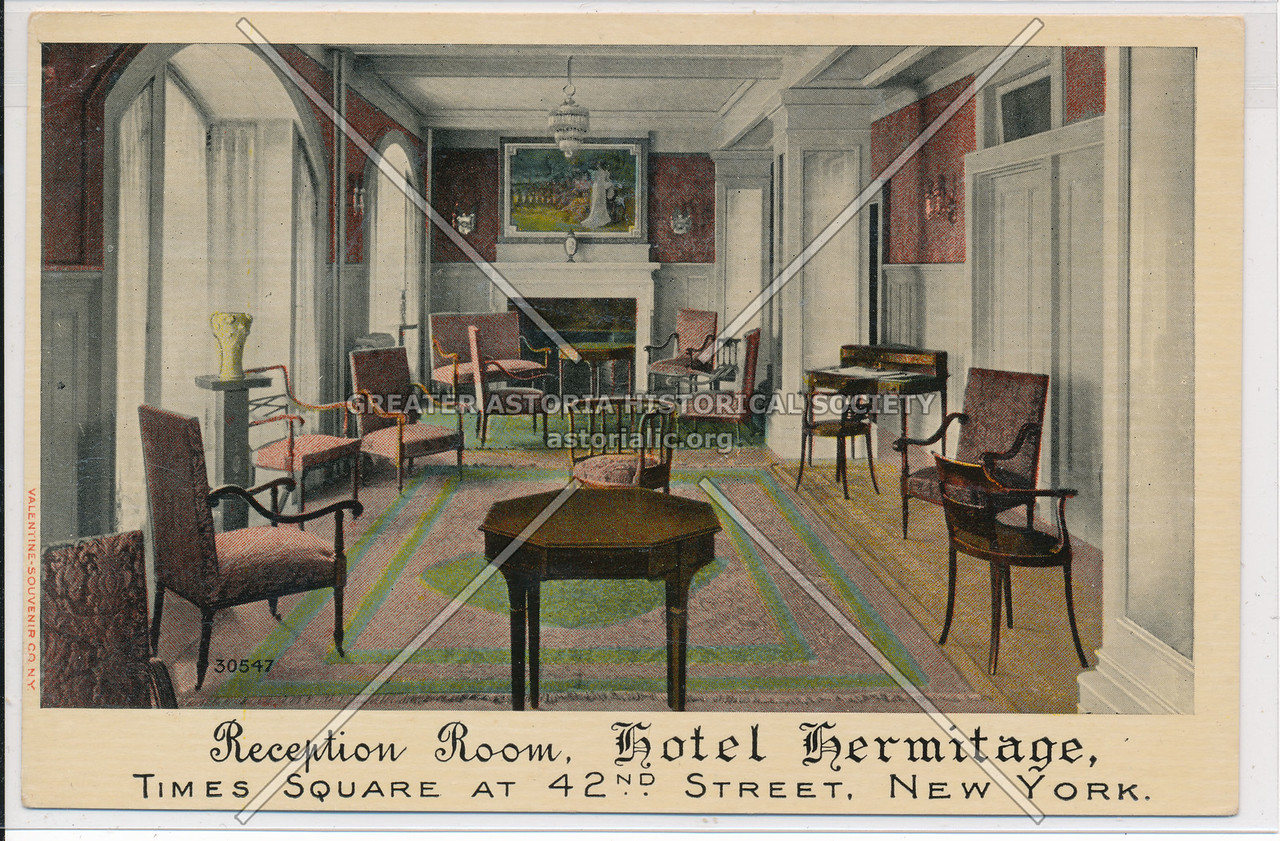 Reception Room, Hotel Hermitage, New York City